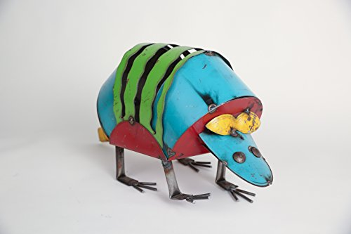 Armadillo-Recycled Metal Animals- Art
