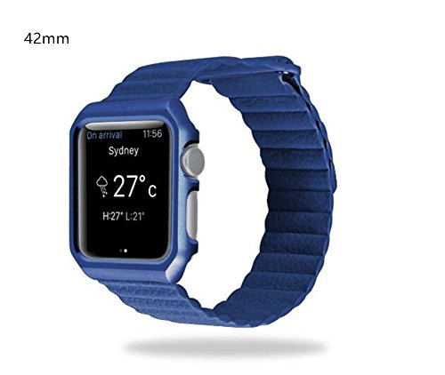 Ramida Apple Watch Band 42mm Loop Leather Watch Band For Apple Watch Belt Straps With Strong Megnetic For iWatch Series 1 Series 2 Series 3 Men and Women