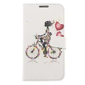 comprar Patrón bicicleta Chica de dibujo de imitación de cuero cubierta de plástico duro bolsas para Samsung Galaxy Nota 2 N7100