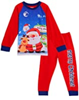 Comhoney Boys Girls Christmas Pajama Sleepwear Shirt & Pants Sets 2 Piece