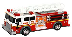 """Toy State 14"""" Rush And Rescue Police And Fire - Hook And Ladder Fire Truck"""
