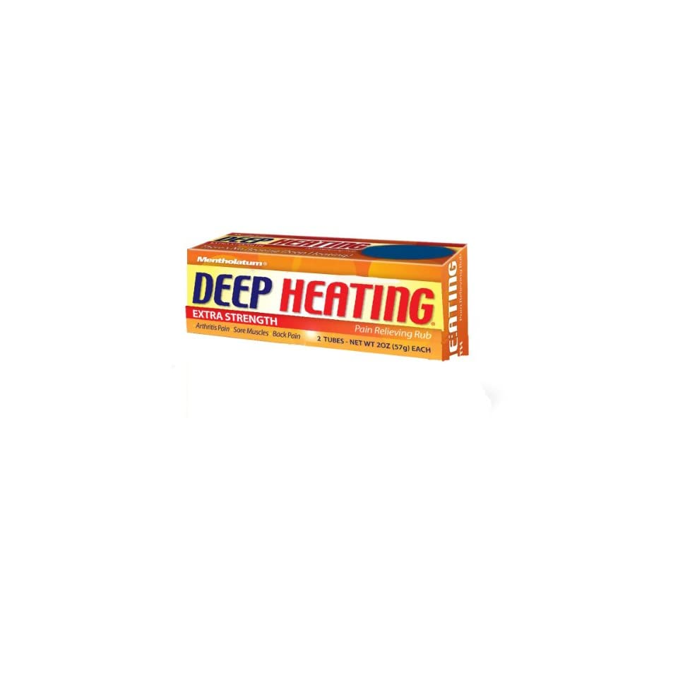 Deep Heating  Pain Relieving Rub, Extra Strength, 2 Ounce (57 g) (Pack of 6)