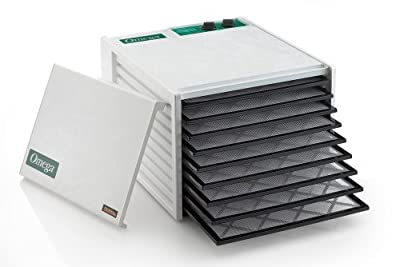Omega DH9090TW 9-Tray Dehydrator with 26 Hour Timer