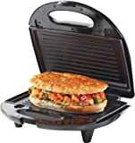 Borosil Krispy 700W Grill Neo Sandwich Maker, (Silver and Black)
