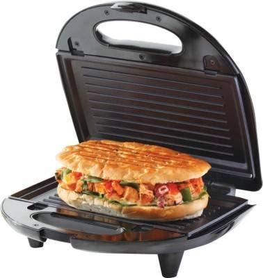 Borosil Krispy 700W Grill Neo Sandwich Maker, (Silver and Black)
