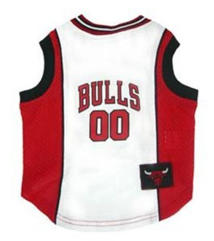 NBA Dog Jersey NBA Team: Chicago Bulls, Size: Small (11'' H x 9'' W x 0.5'' D) by DoggieNation