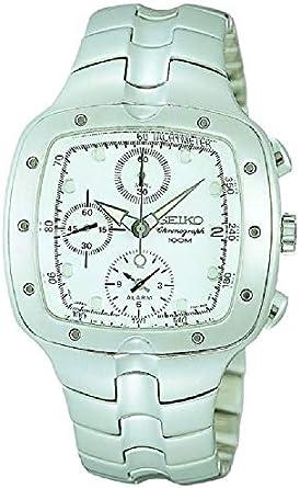 SEIKO SNA009 - Reloj de Caballero Seiko Chronograph - Crono Alarma Sumergible - Acero