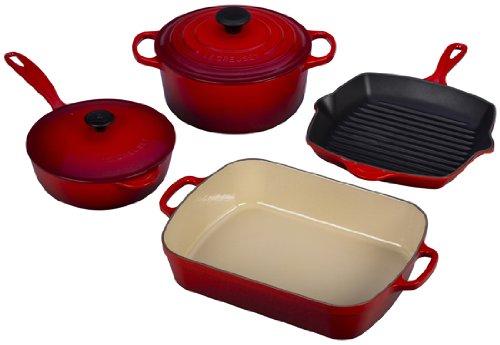 Le Creuset 6 Pc Cast Iron Cookware Set