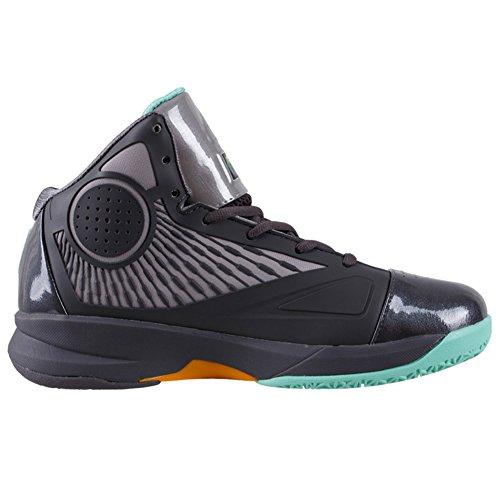 Scarpe Da Basket Da Uomo Serie Velocity Fiba Di Picco Fibbia Dk.grey / Verde