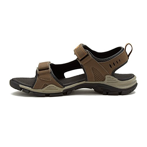 Nevados Mens Sandalo Fiume Marrone / Taupe
