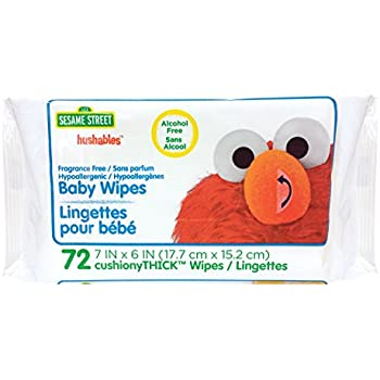Amazon Com Sesame Street Unscented Baby Wipes 72 Count