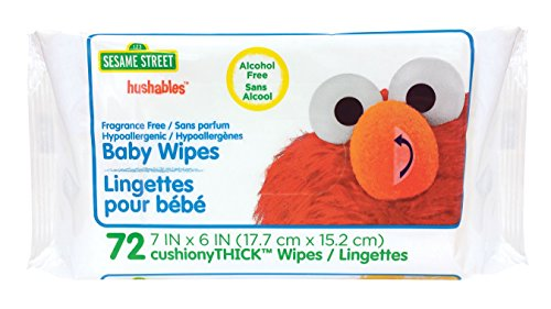 ted Baby Wipes, 72 Count, White, Large ()