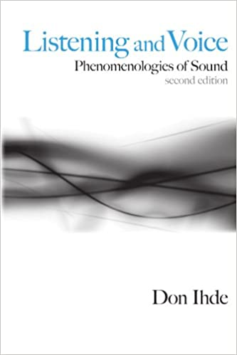 Listening and voice phenomenologies of sound don ihde listening and voice phenomenologies of sound 2nd edition fandeluxe