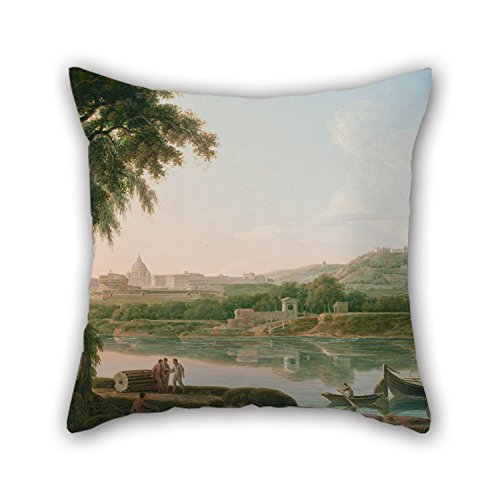 [Elegancebeauty 18 X 18 Inches / 45 By 45 Cm Oil Painting Jacob More - A Distant View Of Rome Across The Tiber Pillow Shams ,each Side Ornament And Gift To Teens] (Winnie The Pooh Cast Costumes)