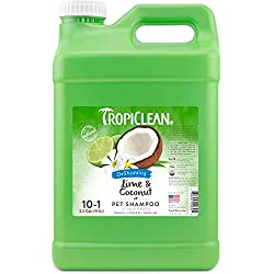 TropiClean Lime & Coconut Shed Control Shampoo for Pets, 2.5 Gal, Made in USA