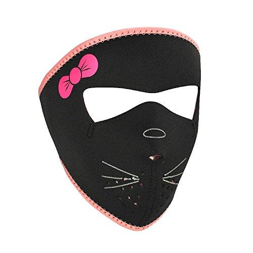 ZANheadgear Neoprene  Kitty  Design Face Mask (Multicolor, Small Size)