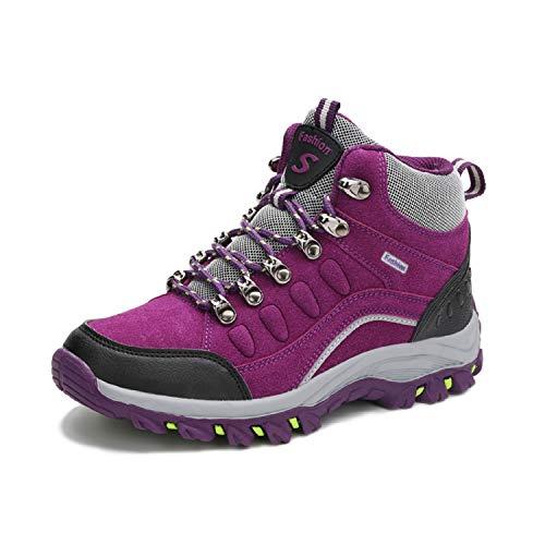 da da All'aperto Sneakers Trekking Sportive Scarpe Scarpe Escursionismo Impermeabile Viola LILY999 Uomo Donna Escursionismo Stivali da Arrampicata TYqPqwR