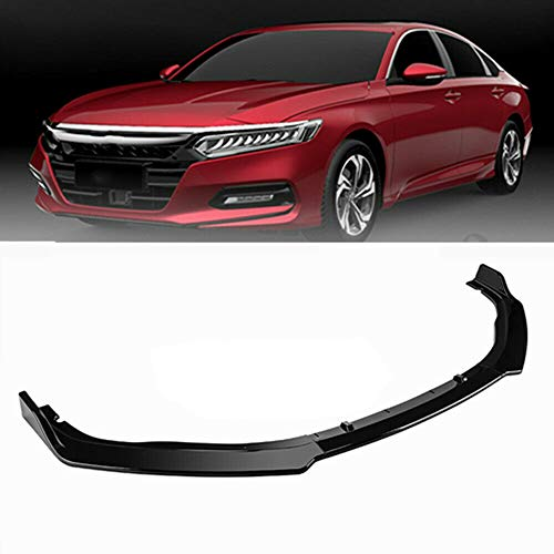 MotorFansClub 3pcs Front Bumper Lip Splitter for Honda Accord Sedan 2018 2019 Trim Protection Splitter Spoiler, Black - Honda Accord Front Spoiler