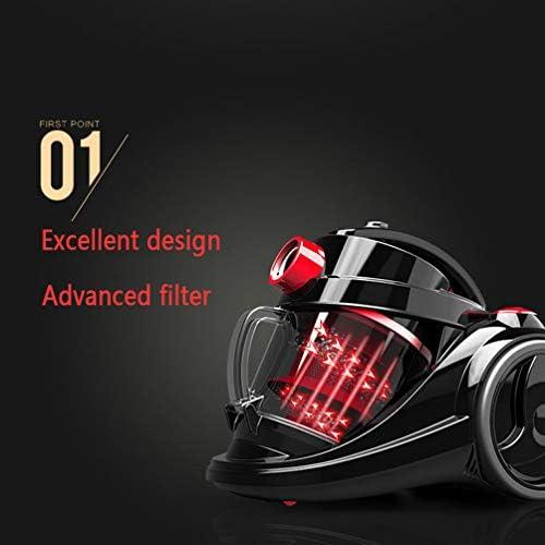 LXHK Aspirateur Sans Sacs, avec 7.5m Rayon de Travail, 2000 W, 3.0 liters Grande Capacité, Technologie Cyclonic Puissance, Silence, 220V, Multi Accessoires, Noir