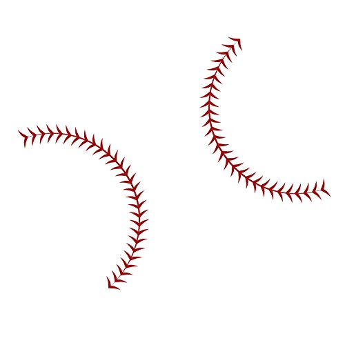 Large Baseball Seams Stitching - Vinyl Wall Art Decal for Homes, Offices, Kids Rooms, Nurseries, Schools, High Schools, Colleges, Universities, Interior Designers, Architects, Remodelers