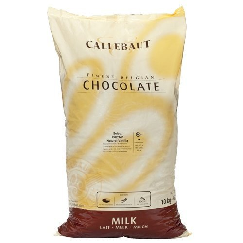 Belgian Milk Chocolate Baking Callets (Chips) - 31.7% - 1 bag, 22 lbs by Callebaut (Image #1)