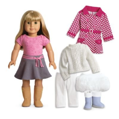 American Girl - My American Girl Doll with Light skin, Blond hair with Bangs, Green eyes - E52 (Doll American Code Star Girl)