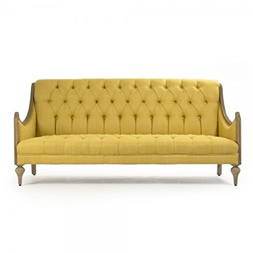 Zentique Walsh Sofa Yellow LI-SH14-21-120
