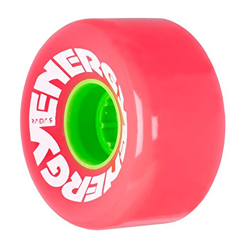 Radar Wheels - Energy 62 - Roller Skate Wheels - 4 Pack of 78A 32mm x 62mm Quad Skate Wheels | Pink ()