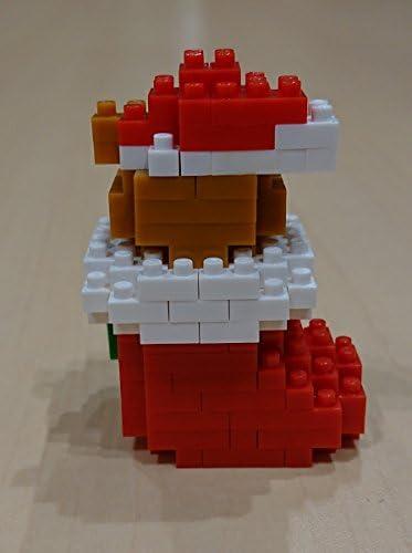 nanoblock NBC/_235 Teddy Bear With Christmas Stocking