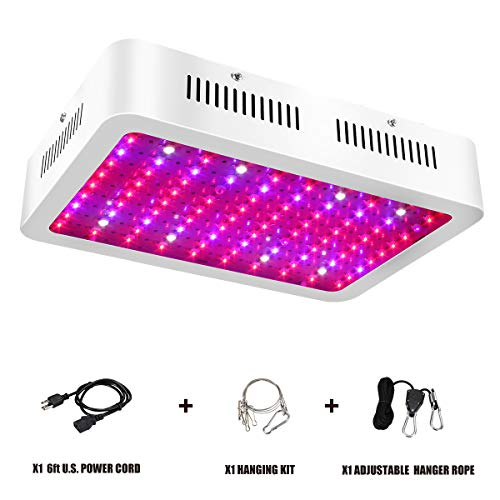 1000W LED Grow Light - Full Spectrum LED Grow Lights for Indoor Plants with Adjustable Rope, UV and IR for Hydroponic Veg and Flower- (100Pcs LEDs)