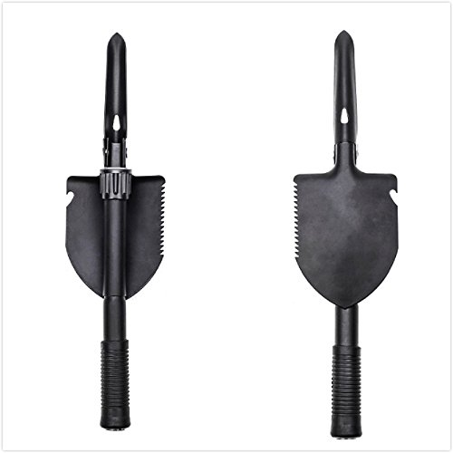 AOTU Military Tactical Spade and Shovel Army Plus Folding Utility Entrenching Tool For Snow Camping Gardening Car Emergency with A Carrying Pouch