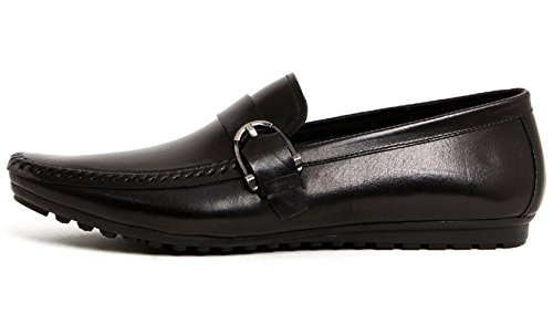 Serdaomani Semelle Souple Homme Fomral Cuir Oxford Bout Rond Chaussures Noir
