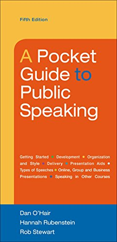 A Pocket Guide to Public Speaking cover