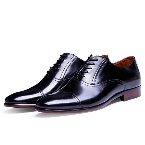 Negocios Oxford Cuero 38 De Black Vestir Grano Tamaño Charol Completo Para Hombre Retro Zapatos 47 Hombres zgtYnOxqY