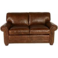 Lazzaro Genesis Loveseat, 67 by 40 by 36-Inch, Cocoa Brompton