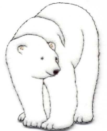 - Polar Bear White Felt/embroidered Iron on Applique Cool Patch Iron On