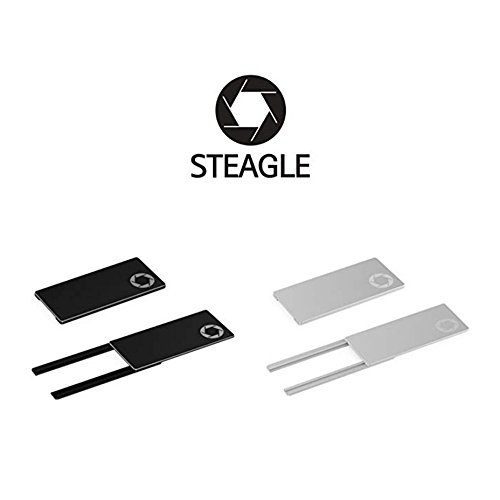 STEAGLE Two Pack (Black Silver) Premium Laptop Webcam Cover for your privacy – Macbook –  Laptop - PC by STEAGLE