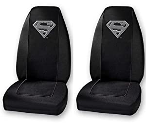Superman Silver Seat Cover One Pair