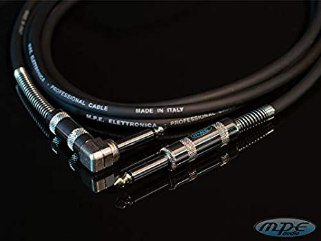 MPE AUDIO Cable guitarra jack angulo 3 mt para instrumentos guitarra, bajo, teclado, Made in Italy de alta calidad hecho a mano, 6,3mm: Amazon.es: Instrumentos musicales