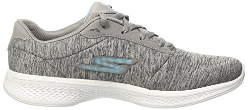 Walking Lace Performance Go Shoe 4 Skechers up Blue Walk Women's Gray gq0qaZ