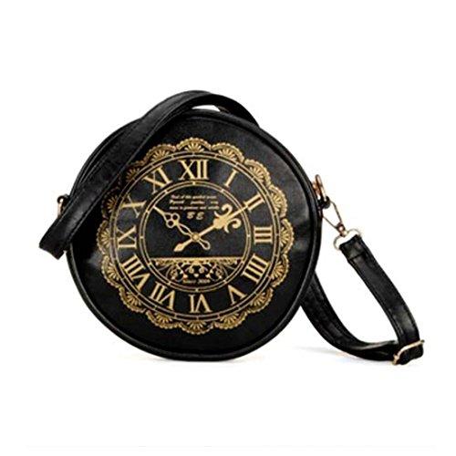 Merveilleux SourcingMap Retro Clock Watch PU Leather Cute Kawaii Handbags Purses  Shoulder Bag