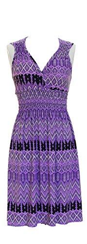 Vibrant-V-neck-Knee-Length-Dress-Assorted-Styles-Plus-Regular-Sizes