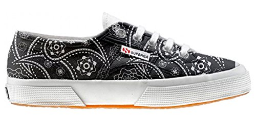 Superga personalisierte Schuhe (Handwerk Produkt) - Black Paisley