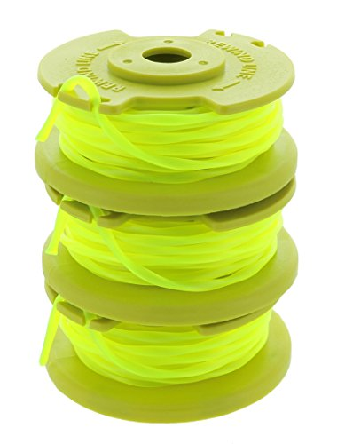 Ryobi One PLUS+ AC80RL3 OEM .080 Inch Twisted Line and Spool Replacement for Ryobi 18v, 24v, and 40v Cordless Trimmers (3 Pack) (Weed Parts For Eater)