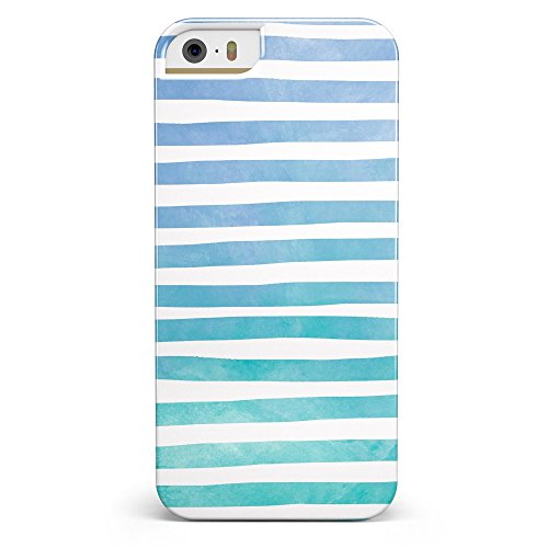 - Ocean WaterColor Ombre Stripes iPhone 5/5s or iPhone SE - Ultra High Gloss INK-Fuzed Case