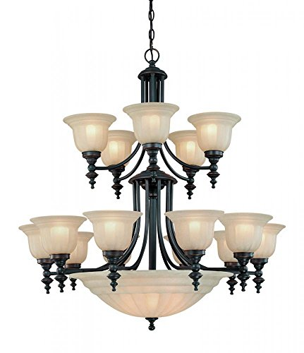 Dolan Designs 668-78 Richland 15+5Lt 2Tier Bowl Chandelier Bolivian Richland 20 Light 2 Tier Bowl Chandelierbolivian