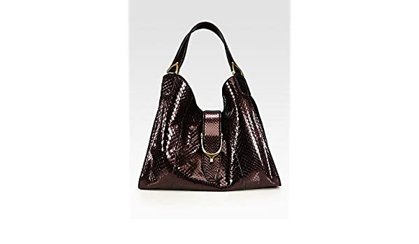 b52b9afffea Amazon.com  Gucci Stirrup Medium Python Top-Handle Bag  Shoes