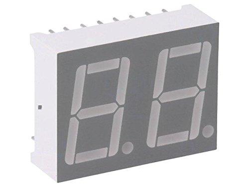 LTD-6410G Display LED 7-segment 14.2mm green 0.87-2.4mcd anode 0.56 LITEON