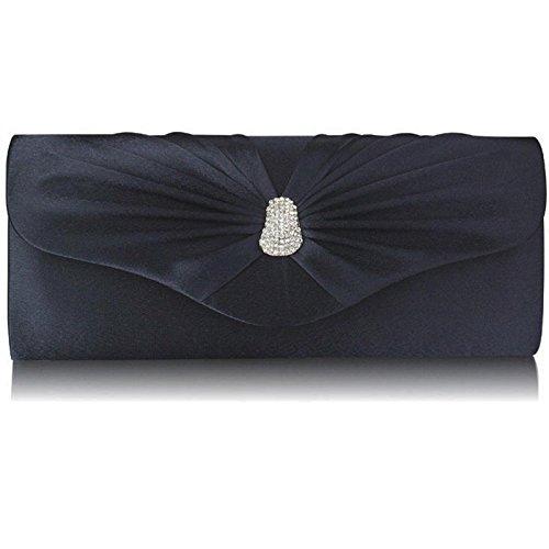 Xardi London-Frizione a punta in Diamante, motivo: borsetta da donna, per abiti da sera Navy