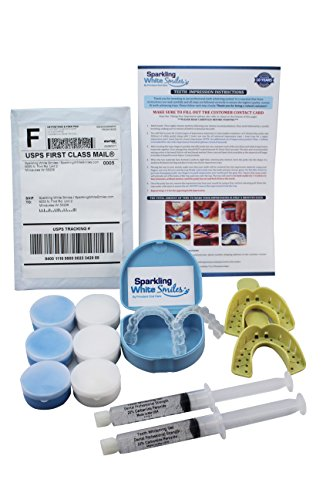 Custom Teeth Whitening Trays and 2 10ml XL Syringes of Fast Acting Professional Teeth Whitening Gel. Order Direct and Save – Whiten Teeth Fast Made in USA – Enough Gel for Up to 60 Applications